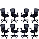 TimberTaste JOHNY Adjustable Lumber Back Support & Adjustable Handles Office Executive Chair Computer Task Revolving Conference Visitor Chair.