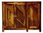 TimberTaste Sheesham Wood 3 door JOHNY side board (Natural Teak Finish).