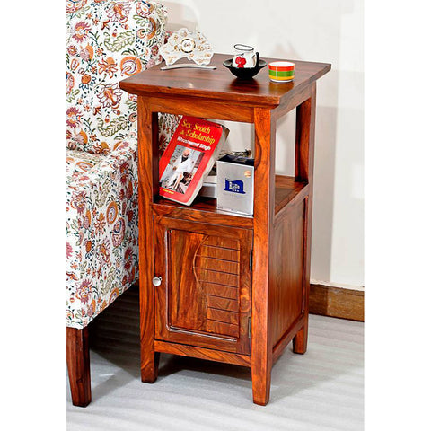 Daintree Sheesham Wood KOSA Side Table Natural Teak Finish