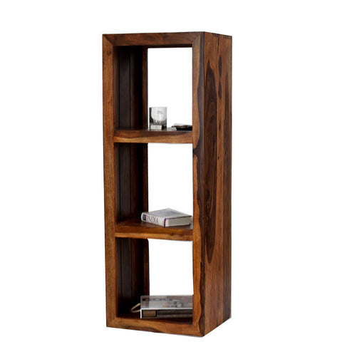 Daintree Solid Sheesham Wood LEO Book Shelf (Natural Teak Finish) For Living Room.