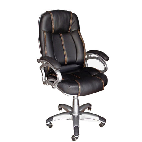 TimberTaste LILLY Black Golden Stitch Directors, Executive, Boss, conference high back office chair.