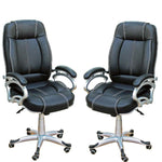 TimberTaste 4 Pieces of LILLY Black White Stitch Directors, Executive office chair (Set of 4).