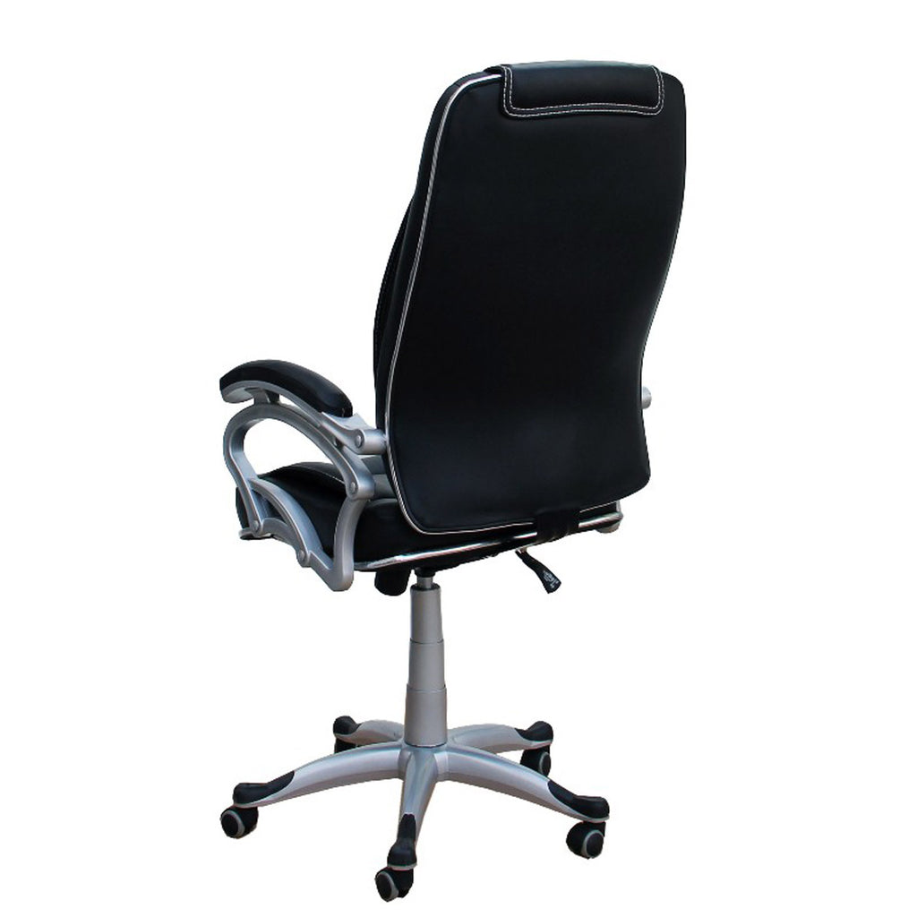 TimberTaste LILLY Black White Stitch Directors Executive Boss Conference High Back Office Chair