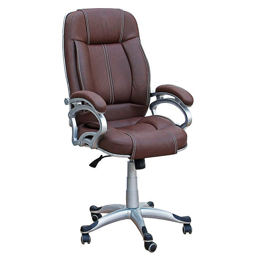 TimberTaste LILLY Brown Directors, Executive, Boss, conference high back office chair.
