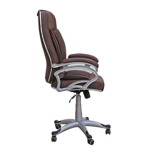 TimberTaste 3 Pieces of LILLY Brown Directors, Executive, Boss, conference high back office chair (Set of 3).