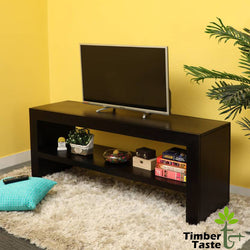 TimberTaste Sheesham Wood 1.40 Meter Dark Walnut Finish MALU TV Unit Cabinet Entertainment Stand