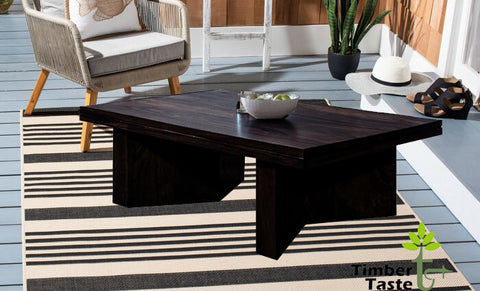 TimberTaste Sheesham Wood Dark Walnut MARY Coffee Table