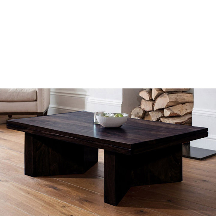 TimberTaste Sheesham Wood Dark Walnut MARRY Coffee Table