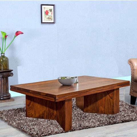Daintree Sheesham Wood Natural Teak Finish MARY Coffee Table