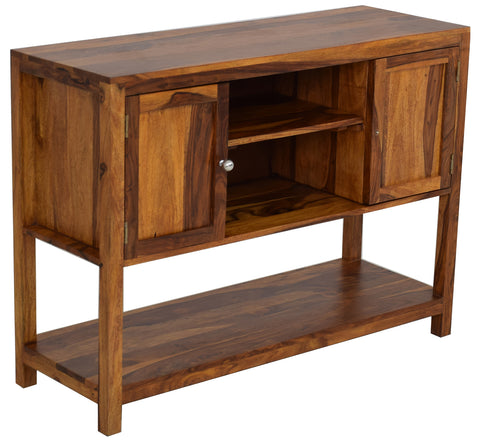 Timbertaste Sheesham Solid Wood Mowgli TV Unit Cabinet Entertainment Stand, solid wood, fish tank stand, wooden table, multi-purpose cabinet