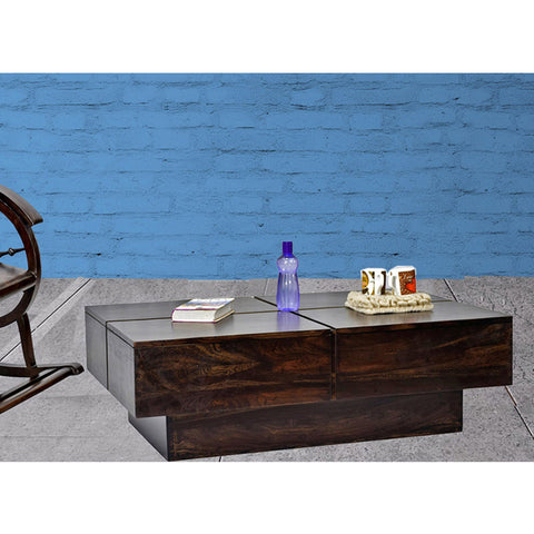 Copy of TimberTaste Solid Sheesham Wood NEWCENTO Coffee Table Dark Walnut For Home Furniture