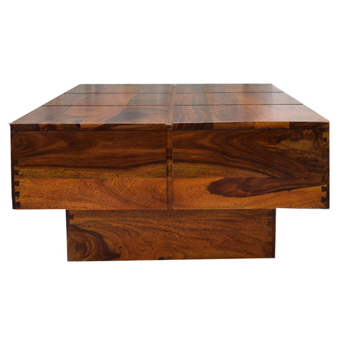 Copy of TimberTaste Solid Sheesham Wood NEWCENTO Coffee Table Natural Teak  For Home Furniture