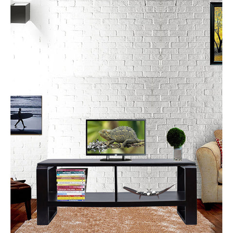 Daintree OPPO Solid Wood TV Entertainment Unit  (Finish Color - Dark Walnut)