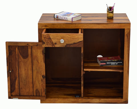 Timbertaste Sheesham Solid Wood Pinku Dark Walnut Finish Side Board Cabinet, sheesham wood cabinet, storage stand, wooden side board, fish tank stand, book shelf, Teak Finish, walnut finish