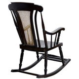 TimberTaste Teak Wood Solid And Smart ROCK CANE Chair Dark Walnut Finish.
