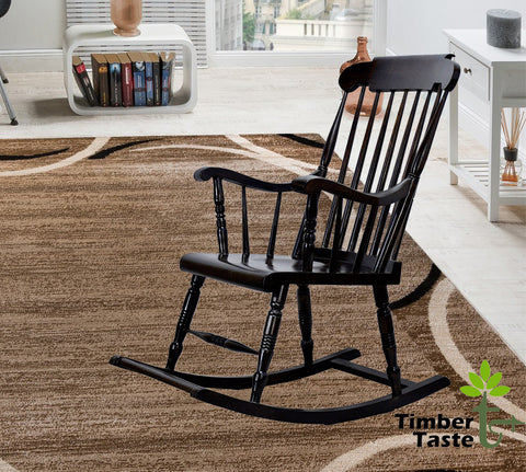 TimberTaste Relax OLDY Rocking Chair Natural Finish Adult Chair / Relax Chair