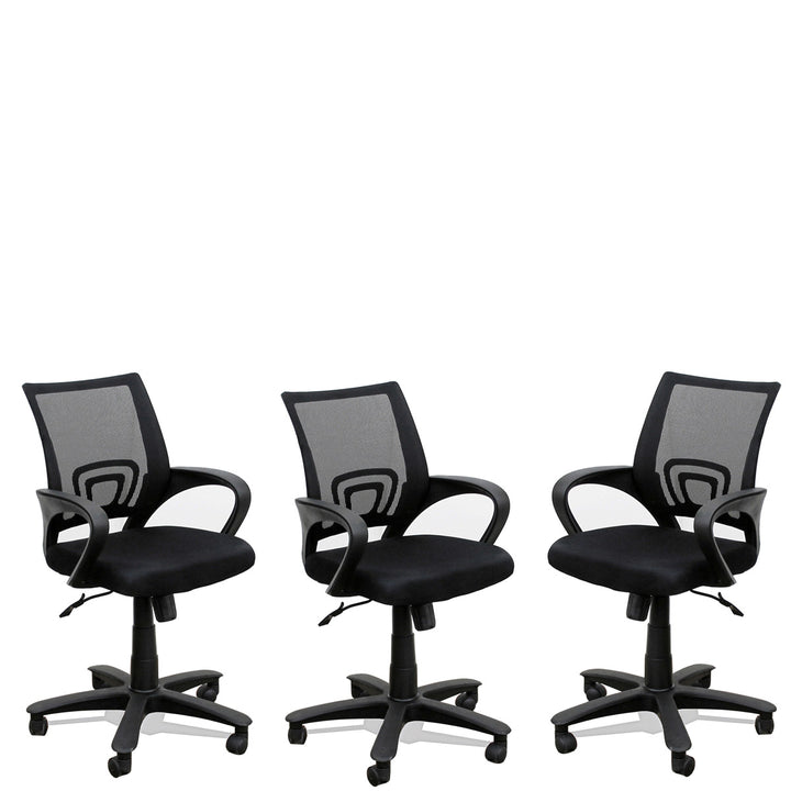 TimberTaste 3 Pieces of ROCKY Computer conference Task Revolving office chair (Set of 3).