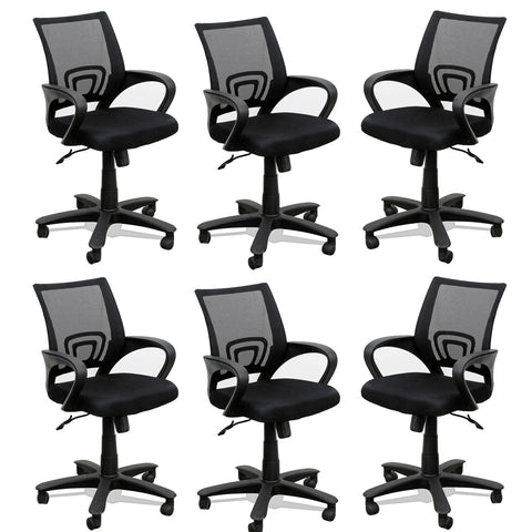 TimberTaste 6 Pieces of ROCKY Computer conference Task Revolving office chair (Set of 6).