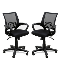 TimberTaste Pair of ROCKY Computer conference Task Revolving office chair (Set of 2).