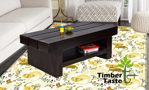 TimberTaste Sheesham Wood RONY Coffee Table Walnut Finish