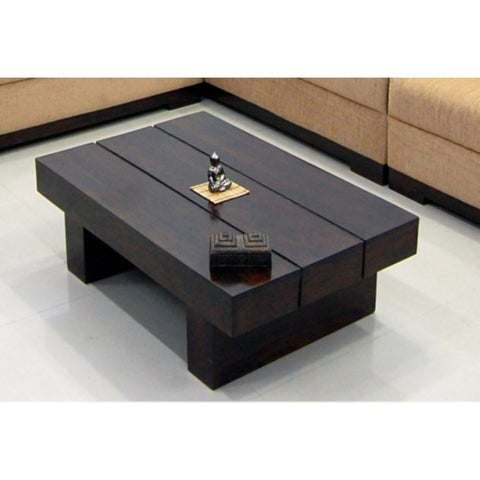 TimberTaste Sheesham Wood RONY Coffee Table Dark Walnut finish