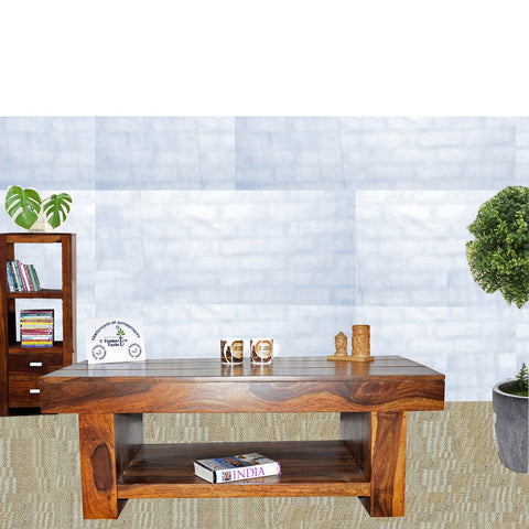 Daintree Sheesham Wood RONY Coffee Table Natural Teak finish.