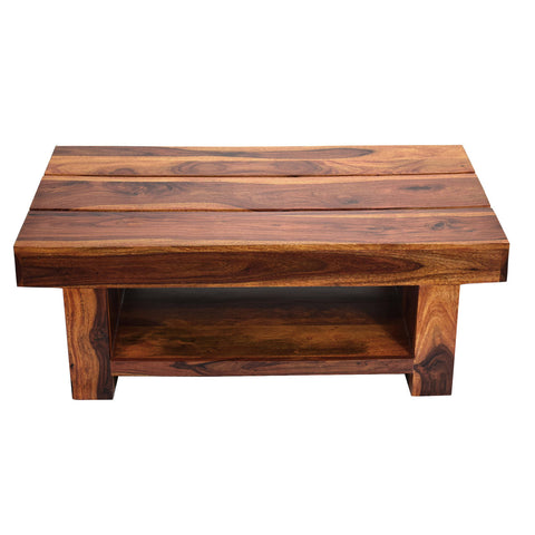 TimberTaste Sheesham Wood RONY Coffee Table Natural Teak finish
