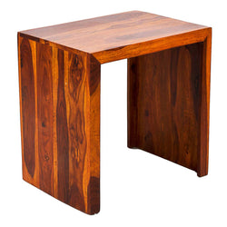 TimberTaste Sheesham Wood Large Size  SATIN Side Table Natural Teak Finish