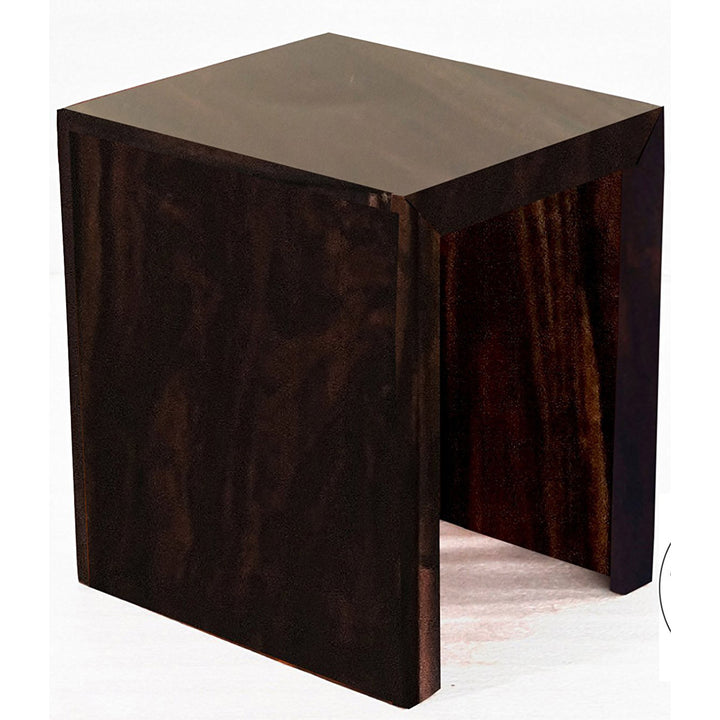 TimberTaste Sheesham Wood SMALL Size SATIN Side Table Dark Walnut Finish