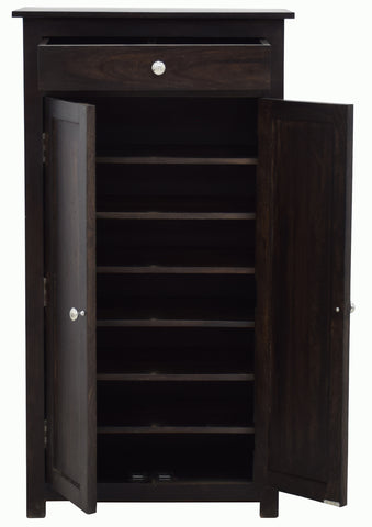 Timbertaste Sheesham Solid Wood SHILPI Natural Teek Finish Shoe Rack Shoe Cabinet Shoe Storage, sheesham wood cabinet, storage stand, wooden side board, fish tank stand, book shelf, Teak Finish, walnut finish