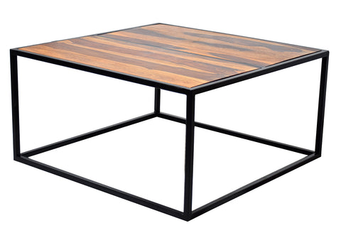 TimberTaste Sheesham Wood SIMRAN Natural Teek Dark Walnut Finish Coffee Centre Table Teapoy, solid wood, fish tank stand, wooden table, multi-purpose cabinet