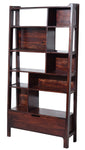 Timbertaste Sheesham Solid Wood SOHANA Dark Walnut Finish Bookcase Book Shelf Book Storage, Book Shelf