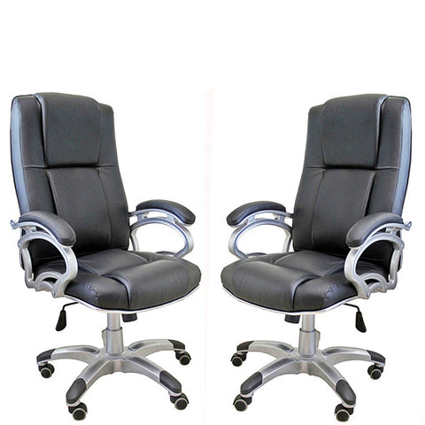TimberTaste 04 Pieces of SOPHIA Black Directors, Executive, Boss, conference high back office chair (Set of 4).