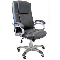 TimberTaste SOPHIA Black Directors, Executive, Boss, conference high back office chair.
