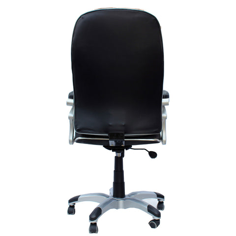 TimberTaste Pair of SOPHIA Black Directors, Executive, Boss, conference high back off.ice chair (Set of 2).