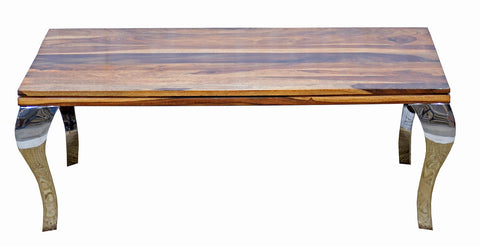TimberTaste Sheesham Wood SSLEG Natural Teek Dark Walnut Finish Coffee Centre Table Teapoy, solid wood, fish tank stand, wooden table, multi-purpose cabinet