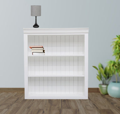 Timbertaste Solid Mango Wood And MDF Isa Bookshelf With 2 Shelf Home Decor| Living Room |