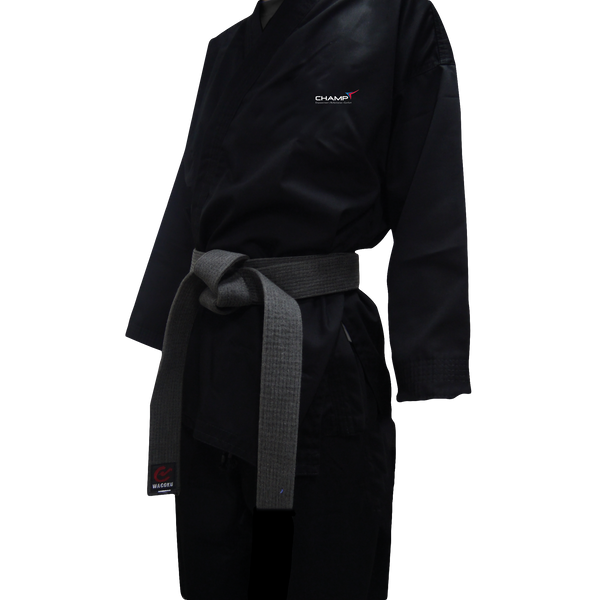 Champ Basic Black Uniform Hapkido