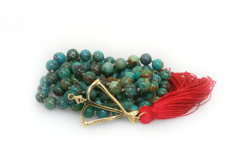 Limited Edition! Open Heart Warrior Natural Tibetan Turquoise Talisman 108 Mala