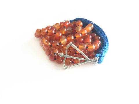 NEW! Open Heart Warrior Carnelian Creativity & Motivation 108 Mala