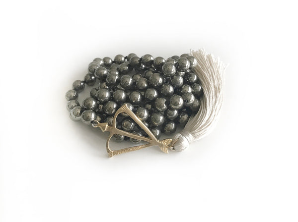 Open Heart Warrior Pyrite Protection & Abundance 108 Mala