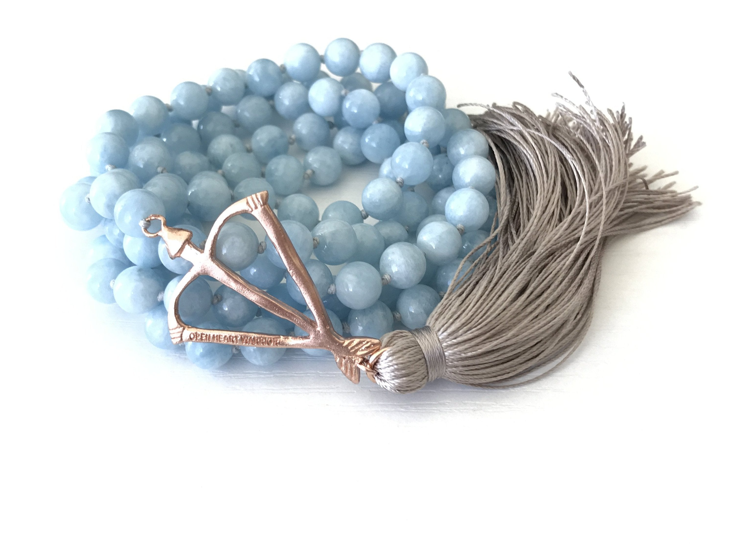 NEW! OHW Aquamarine Courage & Protection 108 Mala