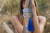 Open Heart Warrior Faceted Labradorite Moonstone Hybrid True North Gold 108 Mala