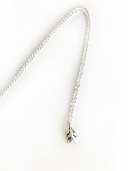"16"" Recycled 14k or Sterling Silver Mini Feathered Necklace"