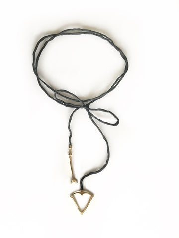 NEW! Signature Open Heart Warrior Bow and Arrow Silk Wrap Choker / Lariat