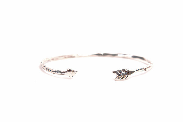 Recycled Sterling Silver Take Aim Adjustable Arrow Bangle
