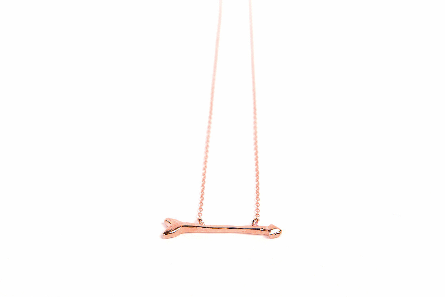 "Follow Your Arrow 17"" Short Bar Necklace"