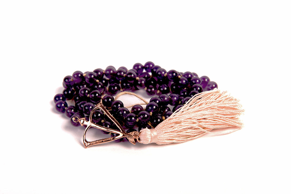 Open Heart Warrior Amethyst Transformation 108 Mala