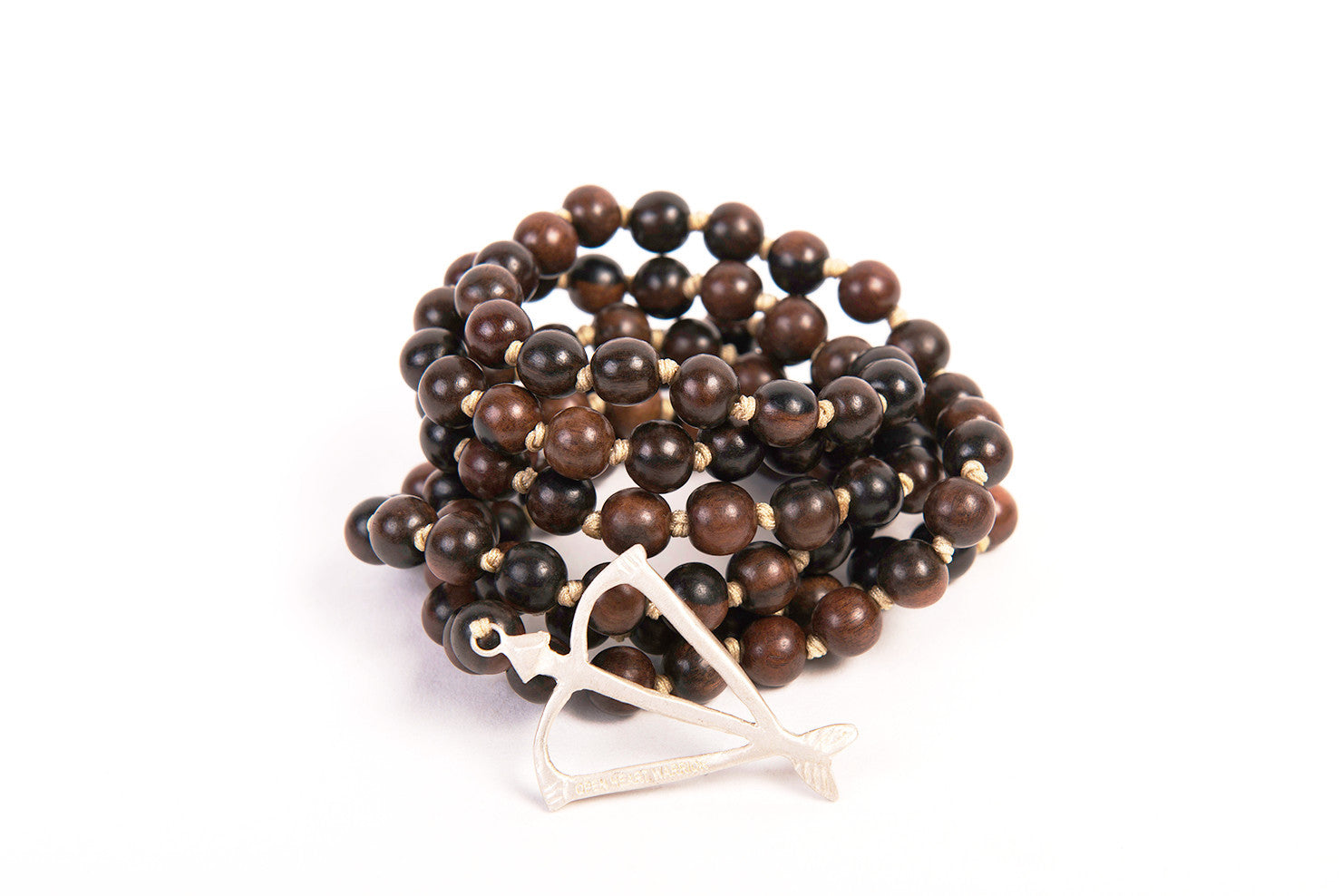 Mens Unisex Open Heart Warrior Kamagong Wood Healing 108 Mala