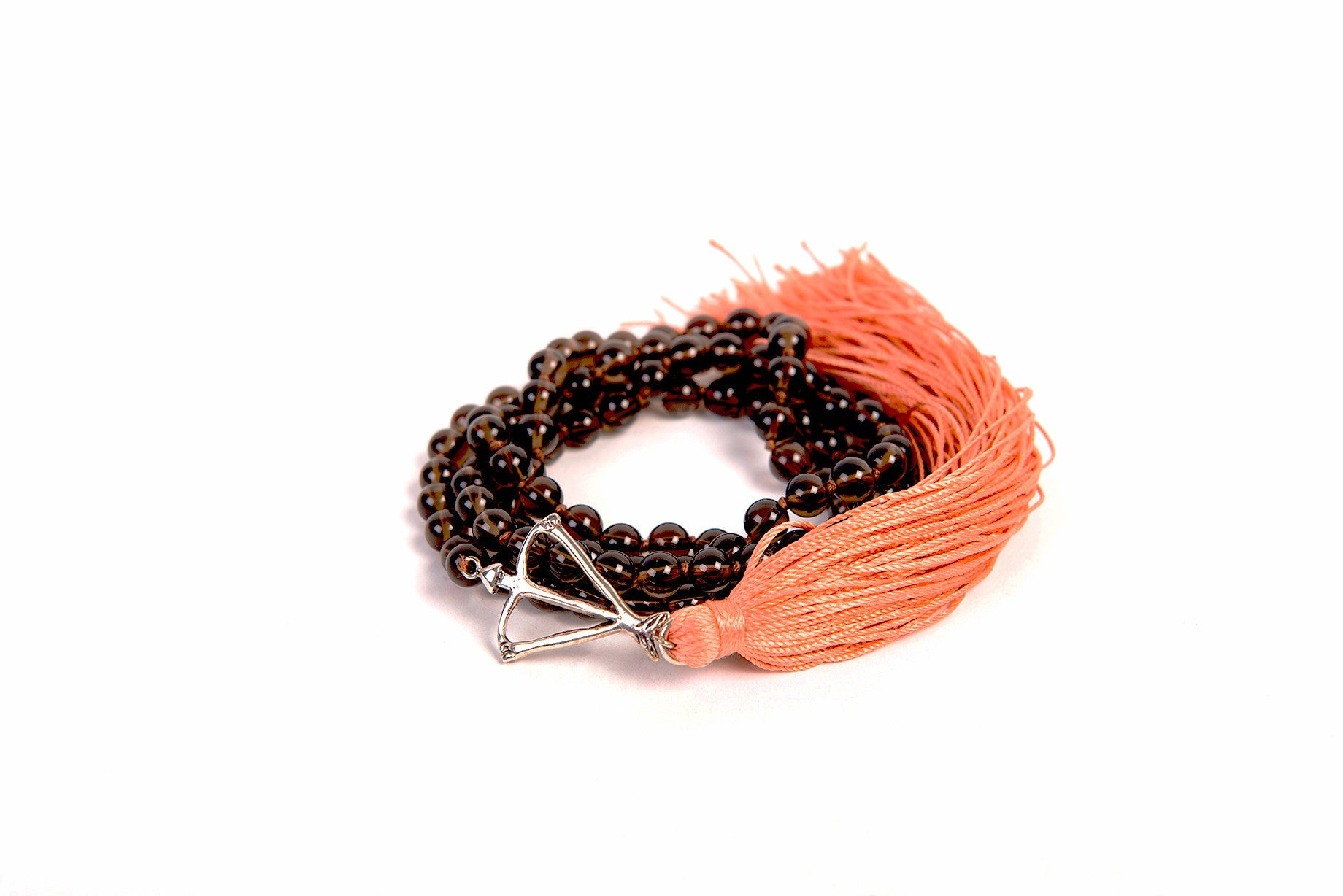NEW! Open Heart Warrior Natural Smoky Quartz Earth Connection 108 MINI Mala